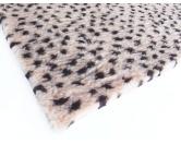 MarkenDry-Bed: Leopard beige braun Dots 100x150cm