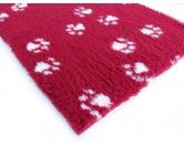 Dry-Bed - mehrfarbig - antirutschDry-Bed: Bordeaux Mit Pfötchen 100x150cm