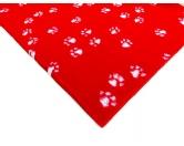 Dry-Bed - mehrfarbig - antirutschDry-Bed: Rot Mit Pfötchen 100x150cm