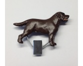 DuftbäumeHundemotiv DuftbäumeHundeausstellungs-Startnummern-Clip: Labrador Chocolate