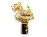 Schmuck & AccessoiresHunderassen Schmuck AnhängerHunderassen-Ringclip 24k Vergoldet: Scottish Terrier