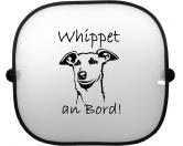 Tiermotiv Tassen3D Tassen HundeSonnenschutzgitter-Hundemotiv: Whippet 1