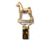 SchlüsselanhängerSchlüsselanhänger versilbertHunderassen-Ringclip 24k Vergoldet: Basenji