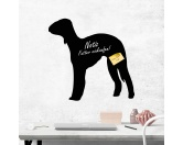 Schmuck & AccessoiresHunderassen Schmuck AnhängerSelbstklebende Kreidetafel: Bedlington Terrier 2