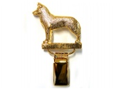 Bekleidung & AccessoiresT-ShirtsHunderassen-Ringclip 24k Vergoldet: Husky