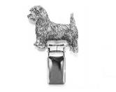 Aufkleber & TafelnHunderassen-Ringclip Versilbert: Cairn Terrier