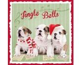 WeihnachtenMyrna Weihnachtskarte: Bulldoggen 1