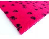 Dry-Bed - mehrfarbig - antirutschDry-Bed: Fuchsia mit schwarzen Pfötchen 100x150cm