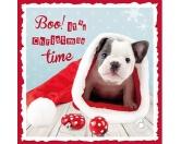 WeihnachtenMyrna Weihnachtskarte: Bulldoggen 2