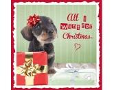 WeihnachtenMyrna Weihnachtskarte: Dackel 1