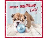 WeihnachtenMyrna Weihnachtskarte: Bulldoggen 3