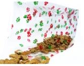 WeihnachtenFolien Beutel: Hunde Pfoten bunt 10er-Set 34cm X 15cm -XL-