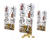 Geschenk-VerpackungenFolien Beutel Puppy -mittel- 10cm x 24cm - 10erpack