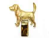 Für MenschenHunde Motiv Handtuch -watercolour-Hunderassen-Ringclip 24k Vergoldet: Beagle