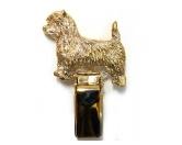 Aufkleber & TafelnHunderassen-Ringclip 24k Vergoldet: Cairn Terrier