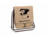 Schmuck & AccessoiresHunderassen-Broschen versilbert/vergoldetJack Russell Terrier 3 Canvas Schultertasche Tasche mit Hundemotiv und Namen