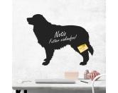 Für MenschenHunde Motiv Handtuch -watercolour-Kreidetafel Hunderasse: Australian Shepherd 1