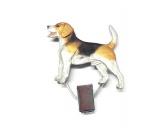 Für MenschenHunde Motiv Handtuch -watercolour-Hundeausstellungs-Startnummern-Clip: Beagle