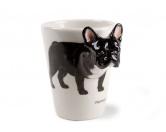T-ShirtsHunderassen T-Shirts3d-Designer Tasse: Französische Bulldogge Brindle-Weiss