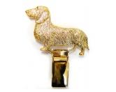 Tiermotiv TassenTassen HunderassenHunderassen-Ringclip 24k Vergoldet: Dackel Rauhhaar