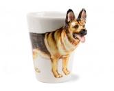 Aufkleber & Tafeln3d-Designer Tasse: Schäferhund