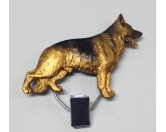 SchlüsselanhängerSchlüsselanhänger versilbertHundeausstellungs-Startnummern-Clip: Schäferhund
