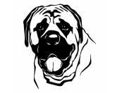 Selbstklebende KreidetafelnHundeWandtattoo: Mastiff 1
