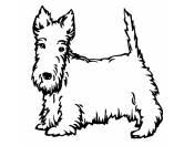 Tierische-FigurenMetallfiguren HandbemaltWandtattoo: Scottish Terrier 2