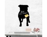 Leben & WohnenHundemotiv HandtücherKreidetafel Hunderasse: Bulldogge 1