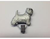 DuftbäumeHundemotiv DuftbäumeHundeausstellungs-Startnummern-Clip: Westie - West Highland Terrier