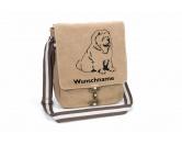 Socken mit TiermotivSocken mit HundemotivChow-Chow Canvas Schultertasche Tasche mit Hundemotiv und Namen