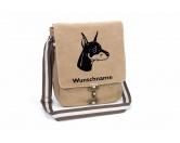 Schmuck & AccessoiresVergoldete AnhängerDobermann 1 Canvas Schultertasche Tasche mit Hundemotiv und Namen