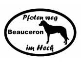 Figuren & EmblemePlaketten aus ZinnPfoten Weg - Aufkleber: Beauceron 2