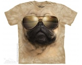 Für Menschen% SALE %The Mountain T-Shirt - Mops Aviator Pug