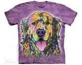 The Mountain FaceThe Mountain-Shirts HundeThe Mountain T-Shirt - Golden Retriever Russo