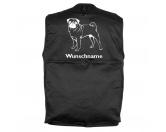 T-ShirtsHunderassen T-ShirtsMops - Möpse stehend - Hundesportweste mit Rückentasche MIL-TEC ®