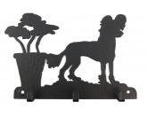 Socken mit TiermotivSocken mit HundemotivChinese Crested - Chinesischer Schopfhund Leinengarderobe - Schlüsselbrett