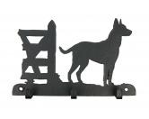 Fußmatten & LäuferFußmatten Hunderasse farbigBelgischer Schäferhund - Malinois Leinengarderobe - Schlüsselbrett