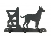 Bekleidung & AccessoiresHundesportwesten mit Hundemotiven inkl. Rückentasche MIL-TEC ®Belgischer Schäferhund - Malinois Leinengarderobe - Schlüsselbrett