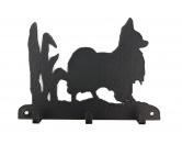 Fußmatten & LäuferFußmatten Hunderasse farbigPapillon Leinengarderobe - Schlüsselbrett