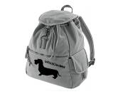 Taschen & RucksäckeGeldbörsen & HandytaschenCanvas Rucksack Hunderasse: Dackel 3