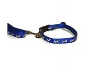 SchnäppchenHalsband-Leinen-Set: Basset Griffon Vendeen Blau
