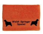 Schmuck & AccessoiresHunderassen-Broschen versilbert/vergoldetHandtuch: Welsh Springer Spaniel