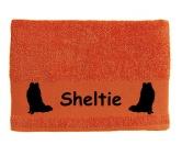 Für MenschenHunde Motiv Handtuch -watercolour-Handtuch: Sheltie - Shetland Sheepdog 3