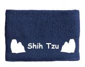 Figuren & EmblemePlaketten aus ZinnHandtuch: Shih Tzu 2