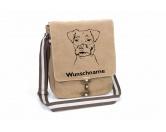 Leben & WohnenGarderoben & SchlüsselboardsJack Russell Terrier 2 Canvas Schultertasche Tasche mit Hundemotiv und Namen