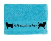 Bekleidung & AccessoiresHundesportwesten mit Hundemotiven inkl. Rückentasche MIL-TEC ®Handtuch: Affenpinscher
