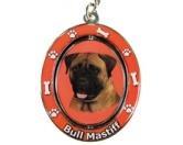 Schmuck & AccessoiresMetall-Hundekopf PinsDrehbarer-Schlüsselanhänger: Bullmastiff