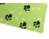 Dry-Bed - mehrfarbig - antirutschDry-Bed: Hellgrün Mit Pfötchen 100x75cm