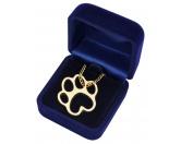 Hundedecken & KissenDRY-BED® & Profleece - TierunterlagenBluebug Halskette: TATZE - PFOTE goldfarben